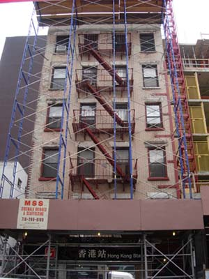 128 Hester Street before it was demolished