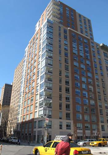 New housing built on a former parking lot at the Elliot-Chelsea Houses project in Manhattan. Some apartments rent for more than $3,000.