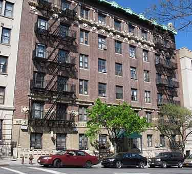 41-45 Tiemann Place, one of six buildings where tenants are suing their landlord for fraud and harassment.