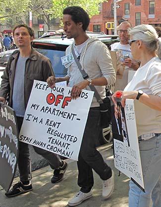 Croman tenants march on Avenue A.
