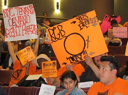 Tenants demand a rent freeze — or better still, a rent rollback.