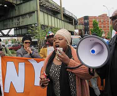 Protest against rezoning in East New York. Photos by Steven Wishnia.